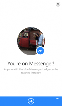 Facebook Messenger доступен для Windows Phone