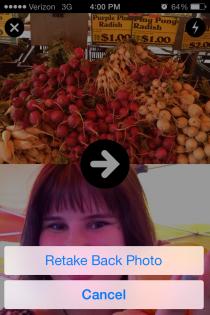 """Приложение """"Frontback"""" - революция самофотографирования"""
