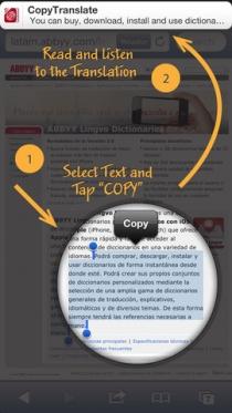 ABBYY CopyTranslate для Apple iOS – мгновенный перевод текста в любом приложении
