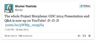 Sony объясняет Project Morpheus и рассказывает о будущем виртуальной реальности для PlayStation