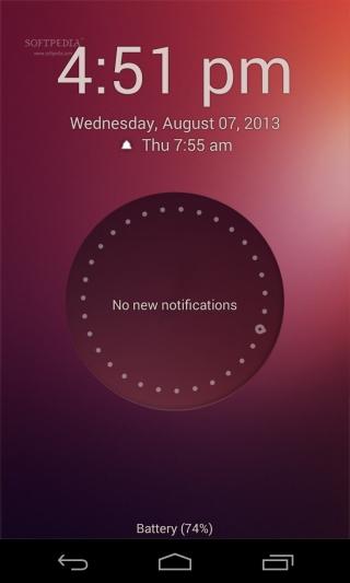 Красивый и функциональный Ubuntu Touch Look Screen для Android