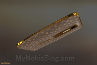 Nokia Lumia WP8 - Luxury Louis Vuitton золотой концепт