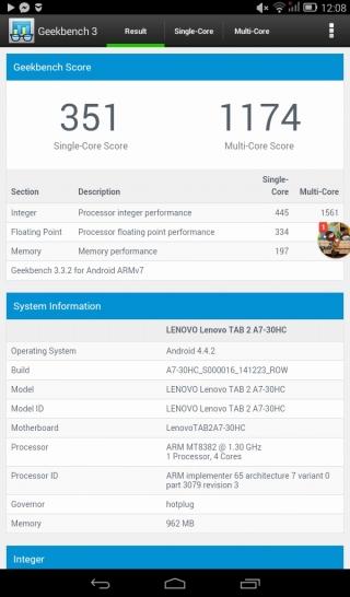 Обзор планшета Lenovo TAB 2 A7-30HC: полезное приобретение