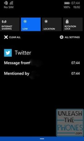 Новый центр уведомлений Windows Phone 8.1 в действии