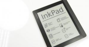 Видеообзор ридера PocketBook InkPad: ряды, столбцы и строчки