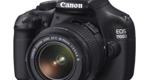 Новая камера Canon 1100D