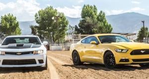 Агрессивные суперкары 2015 года: Ford Mustang GT VS Chevrolet Camaro SS