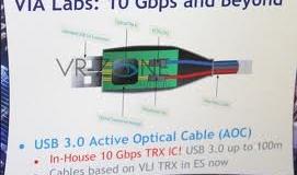 CES 2012: VIA продемонстрировала активный оптический кабель USB 3.0