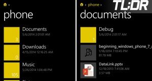ОС Windows Phone получила файловый менеджер Files
