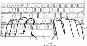Apple получили патент на гибридную клавиатуру с мультитач-клавишами