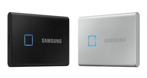 Samsung представляє портативний SSD T7 Touch – новий стандарт швидкості та безпеки зовнішніх носіїв