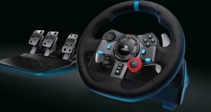 Игровой гоночный руль Logitech G с обратной связью для PlayStation4