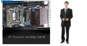 Видеообзор башенного сервера HP ProLiant ML350p Gen8