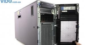 Видеообзор башенного сервера IBM System x3500 M4