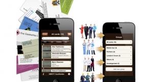 Электронная визитница ABBYY CardHolder для iPhone