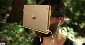 AirVR переносит в мир виртуальной реальности, используя iPad Mini или iPhone 6