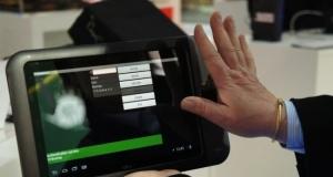 Fujitsu представила планшет со сканером ладони