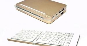 Pipo KB2 – мініатюрний ПК у вигляді складної клавіатури