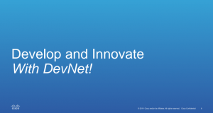 Про Cisco Developer Network з перших вуст: зустріч з віце-президентом компанії