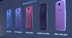 Пять новых цветовых гамм Samsung Galaxy S4