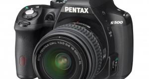 Новая зеркальная фотокамера Pentax K-500 уже в Украине