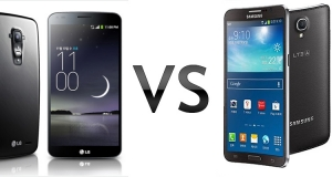 Galaxy Round против LG G Flex