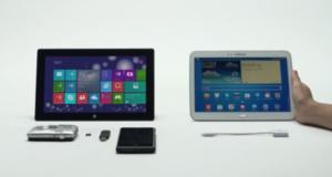 Microsoft не перестает сравнивать Surface 2 с другими планшетами. На очереди Galaxy Tab