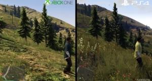 Невероятная разница в графике игры GTA V на консолях Xbox One и PS4