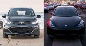Tesla Model 3 проти Chevrolet Bolt