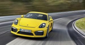 Новый Porsche Cayman GT4 на треке (видео)