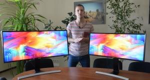 Видеообзор изогнутых мониторов Samsung Curved Monitor S34E790C и S29E790C: естественная глубина