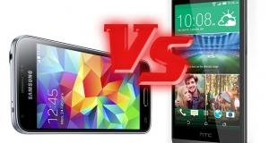 Мини-битва: сравнение Samsung Galaxy S5 mini и HTC One mini 2