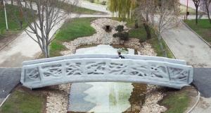 Відкрився перший пішохідний міст, надрукований на 3D-принтері