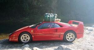 Японец прокачал Ferrari F40, чтобы ездить в походы и готовить на ней яичницу
