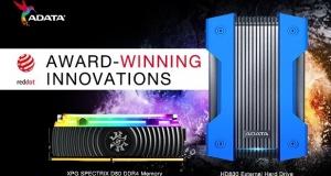 Зовнішній жорсткий диск ADATA HD830 і модуль пам'яті SPECTRIC D80 XPG отримали престижну нагороду Red Dot Design Award