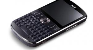 Новые ожидания на рынке смартфонов - Acer beTouch e130