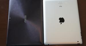 Asus Transformer Prime vs  iPad 2