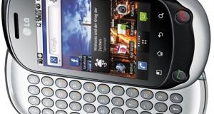 Новинки от LG - Optimus Me P350 и Optimus Chat