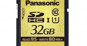 Новые карты памяти Panasonic SDHC