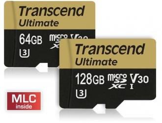 Карты памяти microSD Transcend Ultimate UHS V30 с записью видео Ultra HD 4K