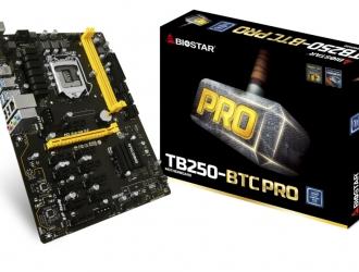 Провідне рішення компанії Biostar для bitcoin майнингу – материнська плата TB250-BTC PRO
