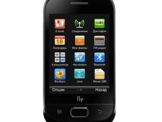 Fly Е145 TV - тачфон с аналоговым ТВ
