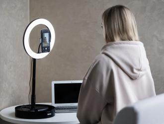 """Світлодіодна кільцева лампа Hama """"SpotLight FoldUp 102"""""""