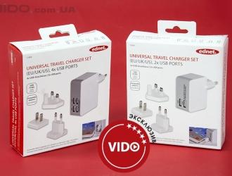 Обзор USB-зарядок Ednet Universal Travel Charger Set 4x USB Ports и 2x USB Ports: одна для всех