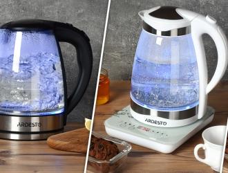 Серія скляних чайників Ardesto з LED-підсвічуванням