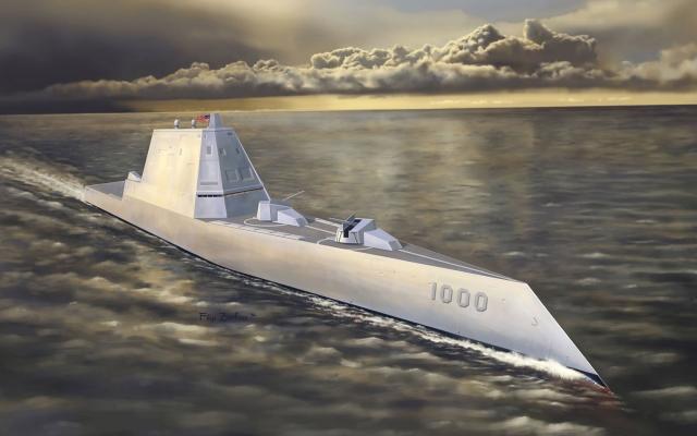 Невидимість нового 182-метрового есмінця типу «Замволт» стала проблемою для ВМС США