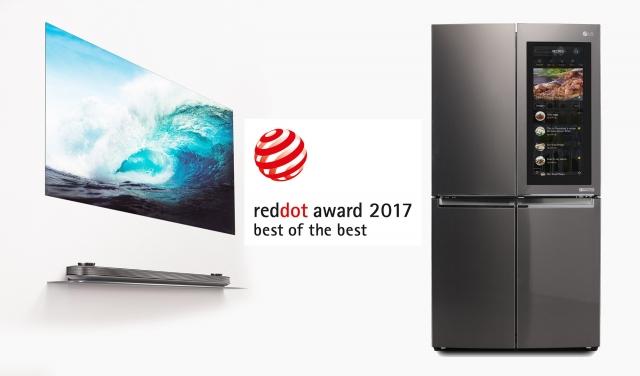 LG получила две награды «Лучшие из лучших» RED DOT AWARDS 2017