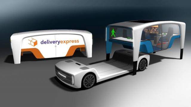 Швейцарці представили концепт автомобіля Snap зі знімними кабінами