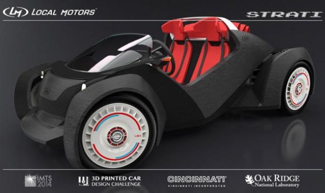 Local Motors создает автомобиль Strati с помощью 3D-принтера