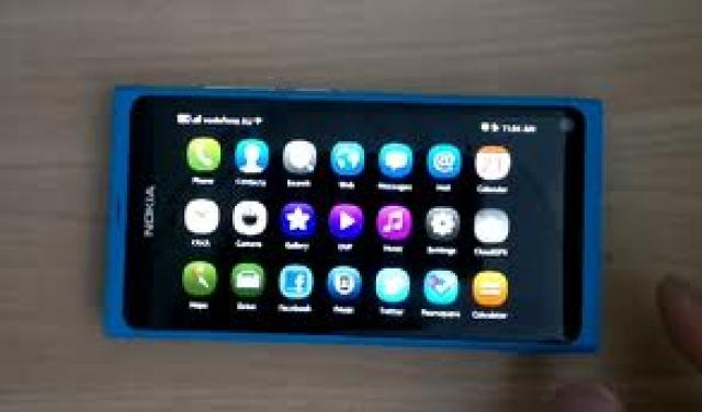 Включение ландшафта в Nokia N9.